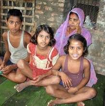 Sunita Devi with her children