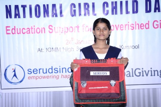 Donation of Education Material for girl child for