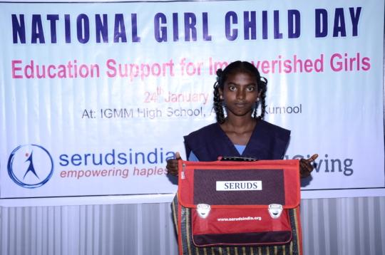 Sponsorship of education for poor girl children