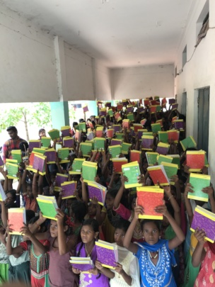Supporting education for poor children in andhra