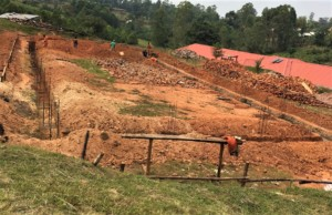 Foundation set for the Multipurpose & Dining Hall