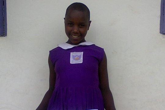 Annitah last year in primary school uniform.