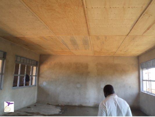 Inside of a classroom under construction