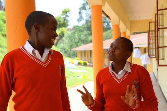 Two Nyaka Secondary Students