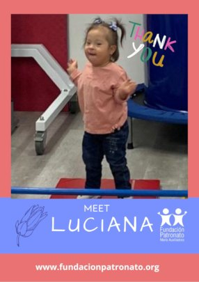 Luciana in physical therapy