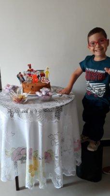 Celebrating his birthday