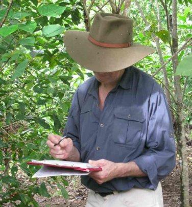 Dr Robert Kooyman recording data