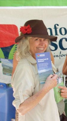 Chair of Rainforest Rescue Board, Madeleine Faught