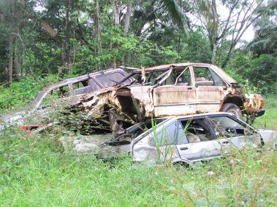 Dumped cars