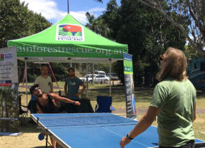 Table tennis at the rainforest awareness event