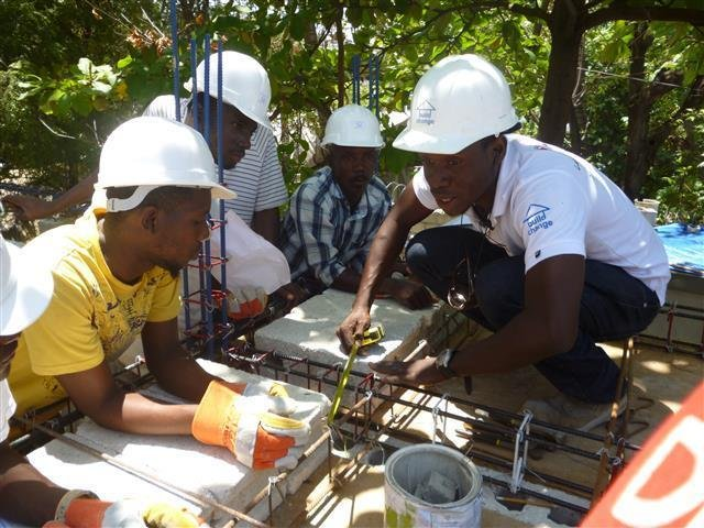 Train four builders in Haiti to build safer homes