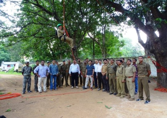 Tree climbing training for Frontline Forest Staff.