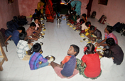Provide dinner to underprivileged tribal children