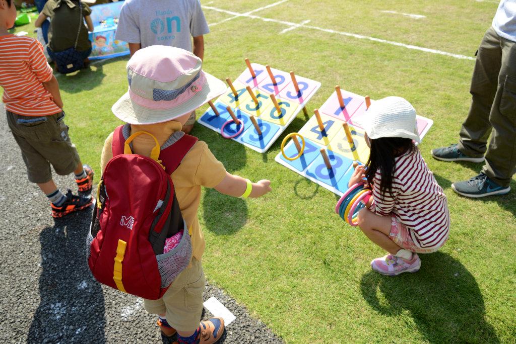 Help kids enjoy ring toss
