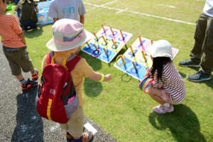 Help kids enjoy ring toss