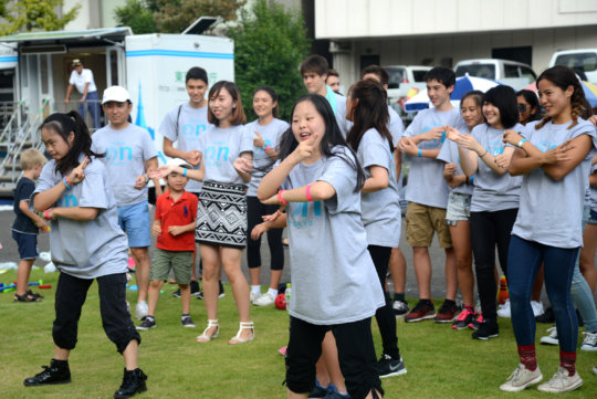 Dancing with Down's Syndrome kids