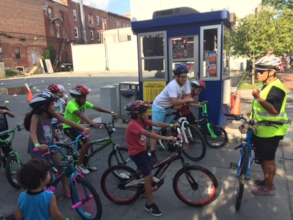 Teaching kids basic riding skills in Lawrence