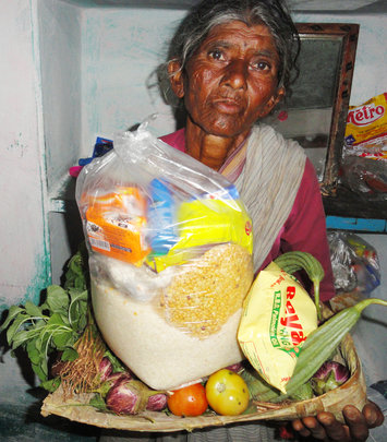 Monthly Groceries for Poor Old Age Person