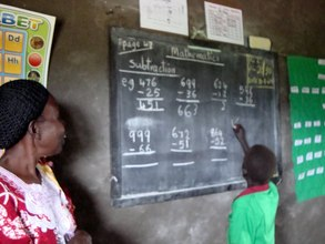 Learning Subtraction in school in S. Sudan