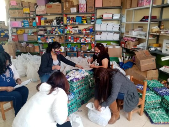 Teachers sort for food needs of their families pac