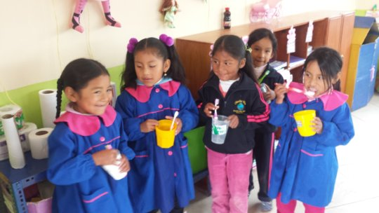 Oral hygiene instruction the first days of school