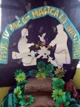 Student created nativity scene