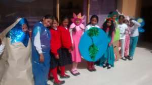 Honoring Mother Earth with recycled costumes