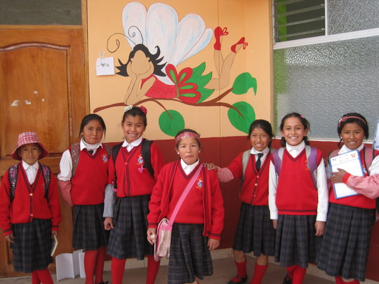 Start of school for 2015 and girls are all smiles