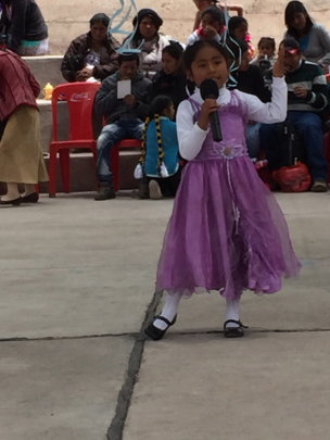 Student shares her love of school with her poem