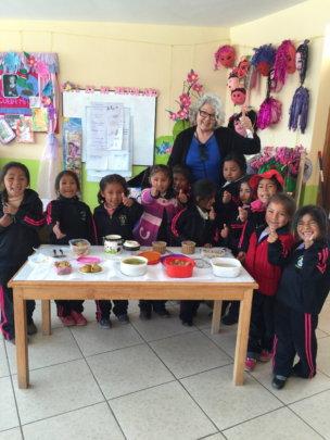 5 y/o nutrition class, see ways to prepare Quinoa