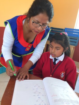 Teachers provide one to one instruction as needed