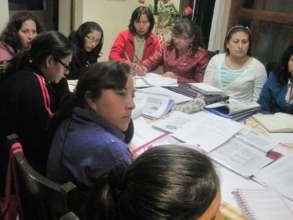Teacher's Saturday workshop in directors home