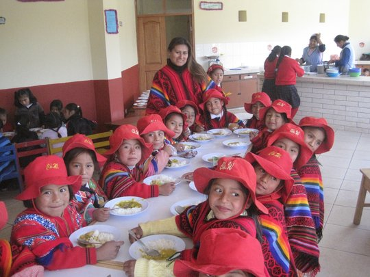 Nutritious daily hot meal for 110 students