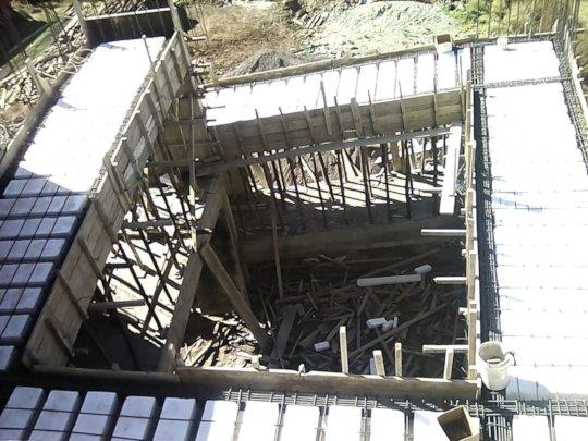 Completing school ramp-ground to third floor