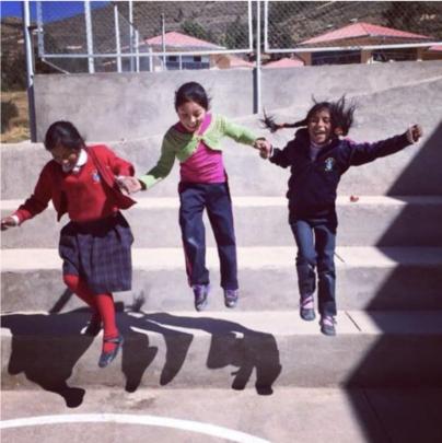 Joyful girls feeling great about themselves