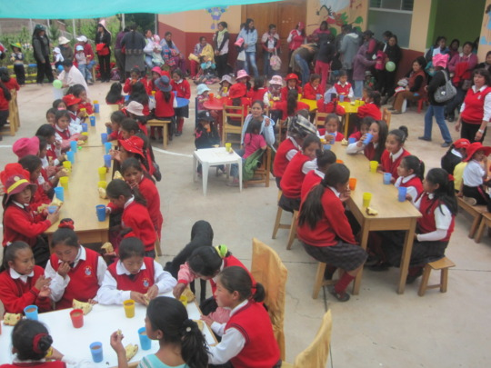 School Xmas party with all staff and mothers
