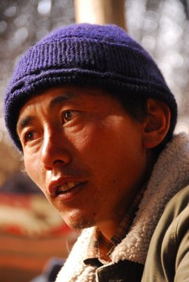 Thondup Tsering is the main teacher in the mobile