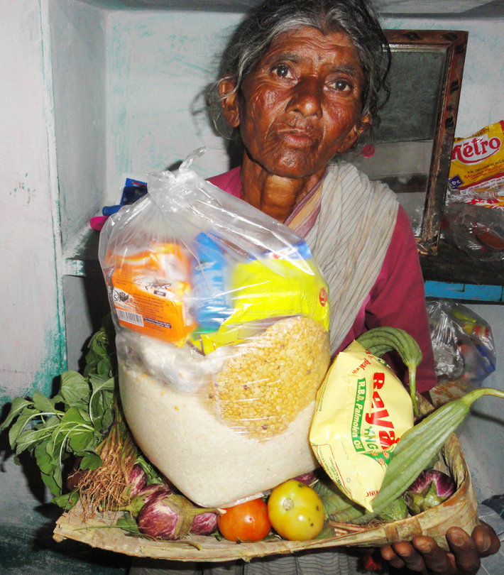 Provide Monthly Groceries for Poor Old Aged Person