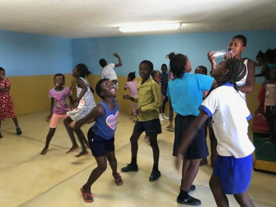 Happy children in the new Activity room