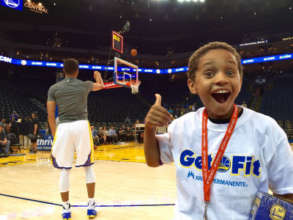 Playworks Junior Coach at the Warriors Game