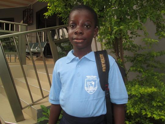 Sara happy to start school