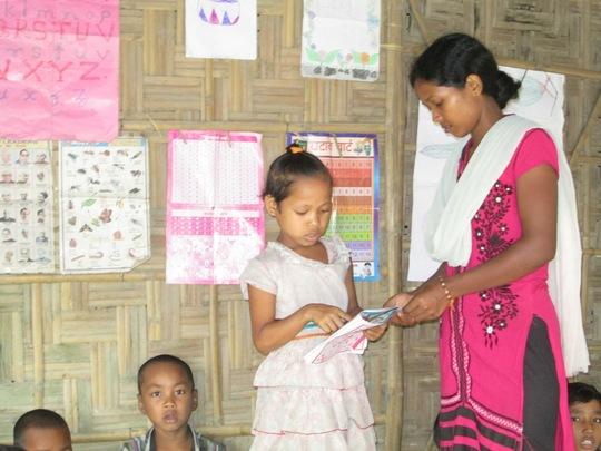 Reading session at  Dengapar Learning Centre