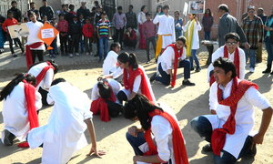 Street play being performed for awareness