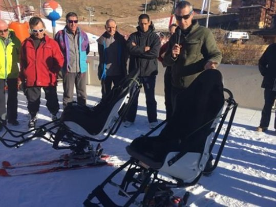 Inauguration of the new ski chairs