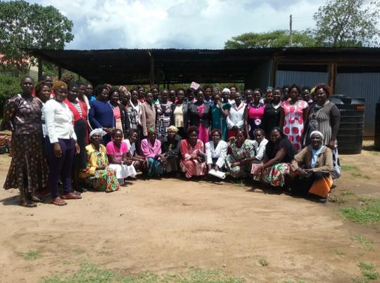 Training with women farmers in West Pokot, Kenya