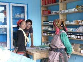 Patients in the new clinic at Thulo Syabru, Nepal