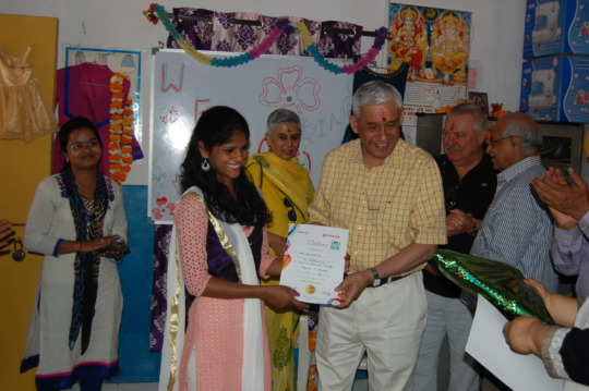 Graduation ceremony of the Sewing Course