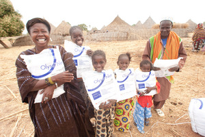 Family Receiving Mosquito Nets