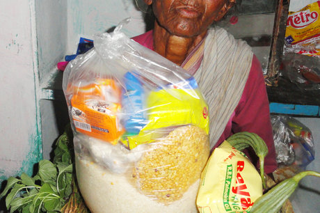 Provide Monthly Groceries to Poor Old Aged Persons