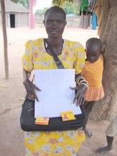 BRAC community health entrepreneur in S. Sudan